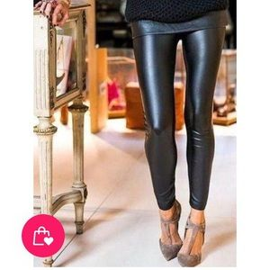 Pants - Vegan leather leggings